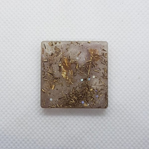 Third Generation OrgoneIt Orgonite Pendants Herkimer Diamonds, 24 carat gold and brass. The Herkimer diamond is also known as the Stone of Attunement because it can help you attune to any situation or environment. This crystal can powerfully amplify your spiritual energy.