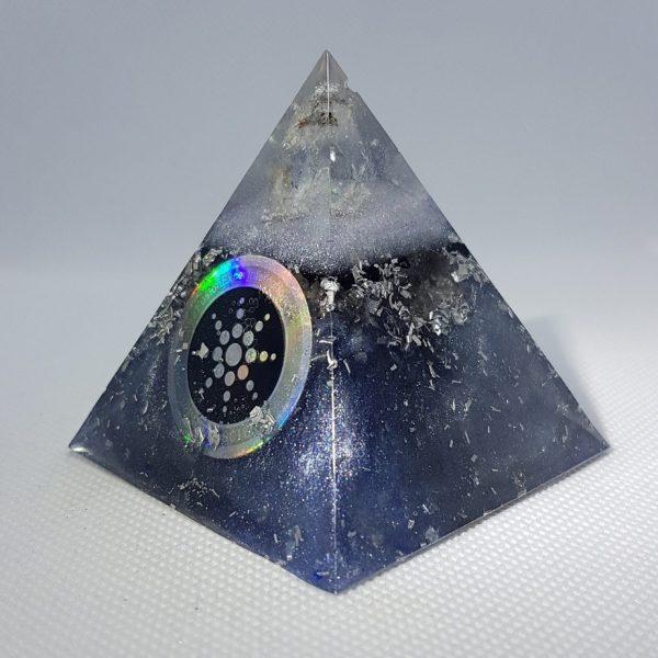 Massive Supergiant Orgone Orgonite Pyramid 6cm - Giant Quartz Point, Tourmaline Grounding, scalar wave technology, then aluminium for Grounding, manifestation, focus