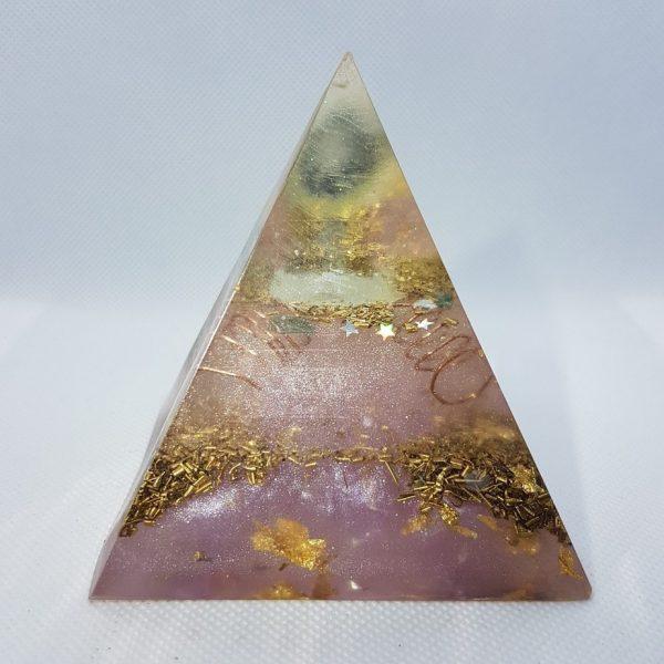 Neutron Star II EMF Protection Orgone Orgonite Pyramid 8cm 1