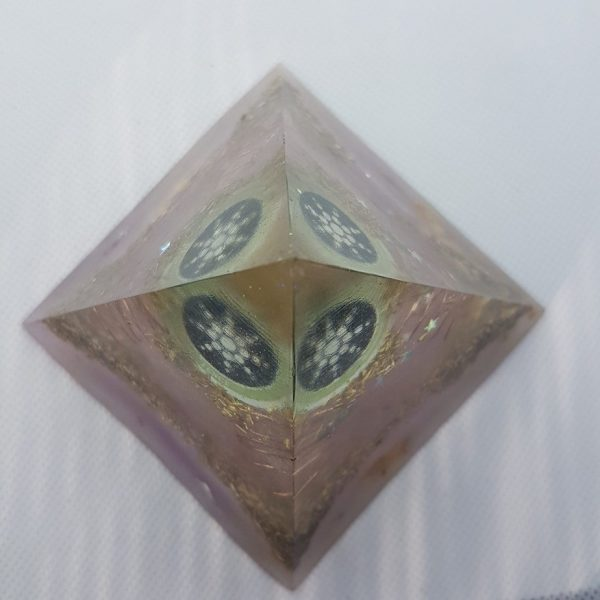 Neutron Star II EMF Protection Orgone Orgonite Pyramid 8cm 2