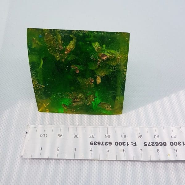 Green Rush Orgone Orgonite Pyramid 6cm 3