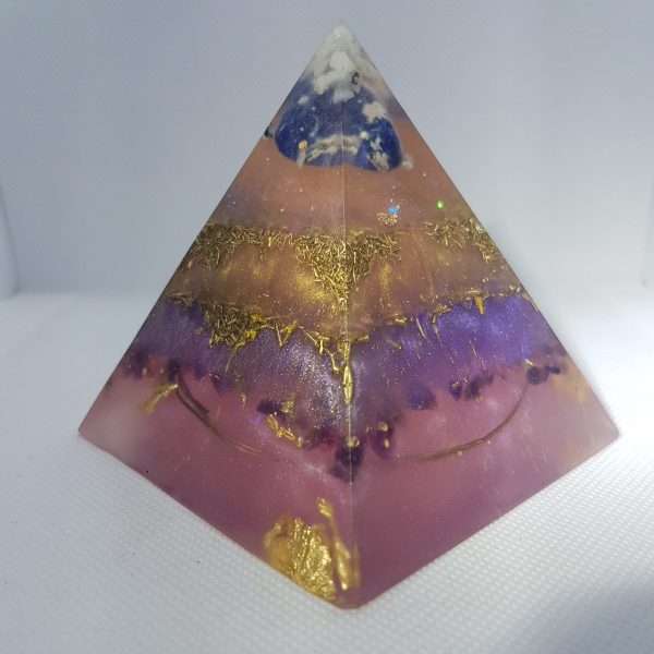 Unique Being Orgone Orgonite Pyramid 9cm