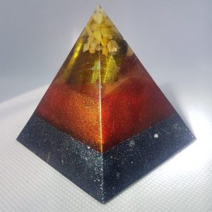 Callisto Moon Orgone Orgonite Pyramid 6cm