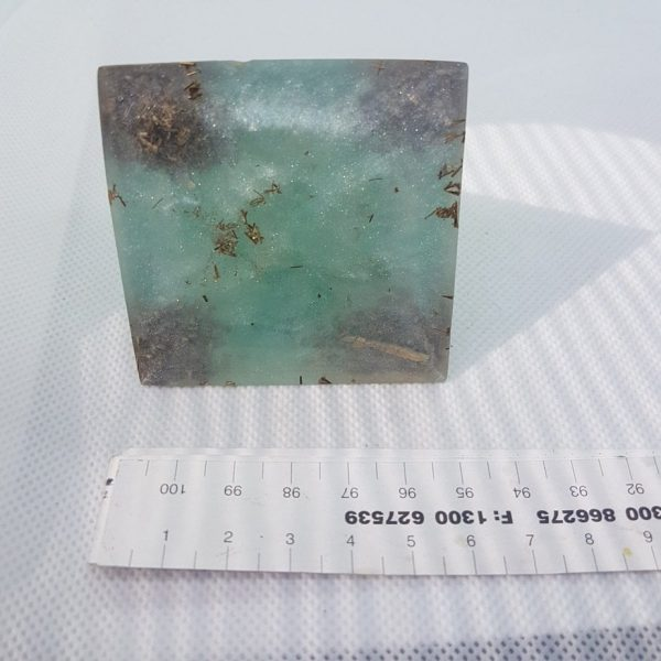 Under the Turquoise Sky Orgone Orgonite Pyramid 6cm 3