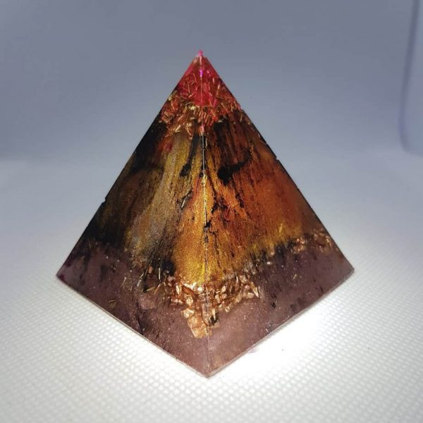 Masking the Truth Orgone Orgonite Pyramid 6cm