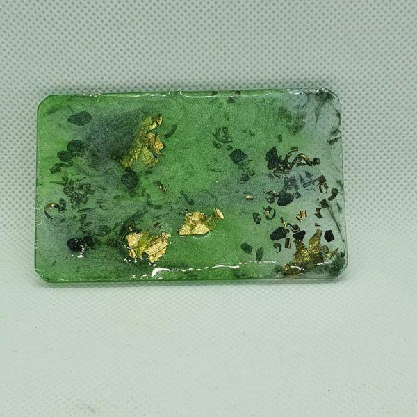 Green Mind Meld Orgone Orgonite Card 1
