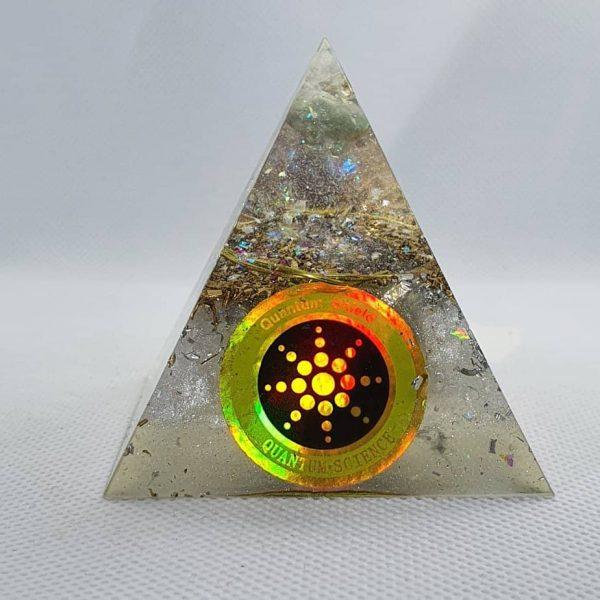 Pure Light Fluorite Celestite Orgone Orgonite Pyramid 6cm 1