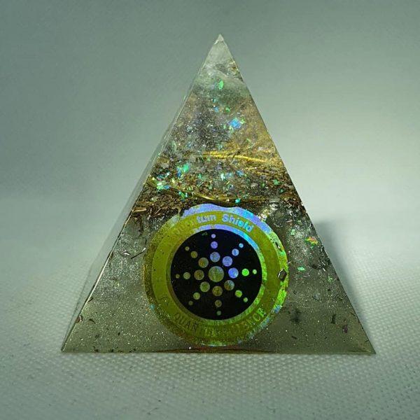 Pure Light Fluorite Celestite Orgone Orgonite Pyramid 6cm 3