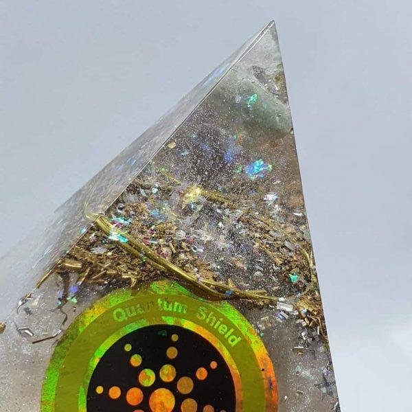 Pure Light Fluorite Celestite Orgone Orgonite Pyramid 6cm 2