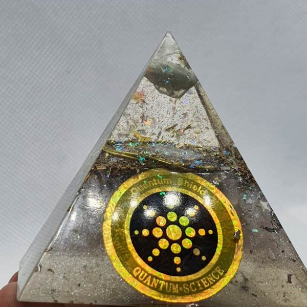 Pure Light Fluorite Celestite Orgone Orgonite Pyramid 6cm 4
