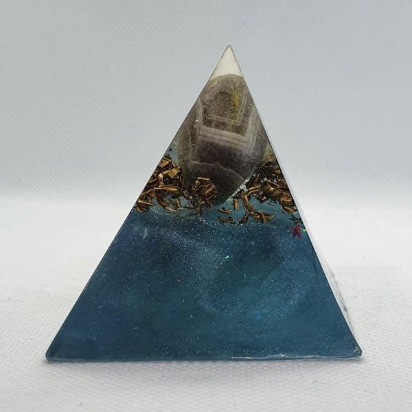 Angel Blue Lace Agate Orgone Orgonite Pyramid 6cm 1
