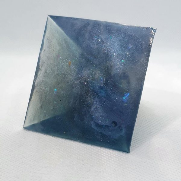 Angel Blue Lace Agate Orgone Orgonite Pyramid 6cm 4