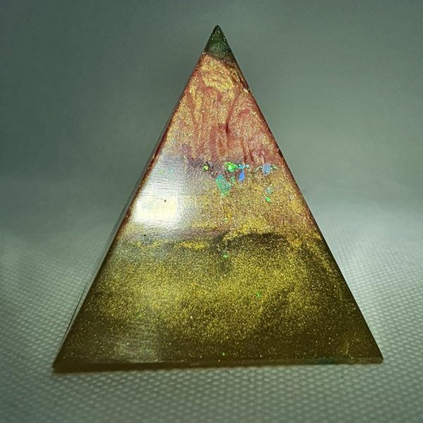 Martian Landings Orgone Orgonite Pyramid 5cm 1