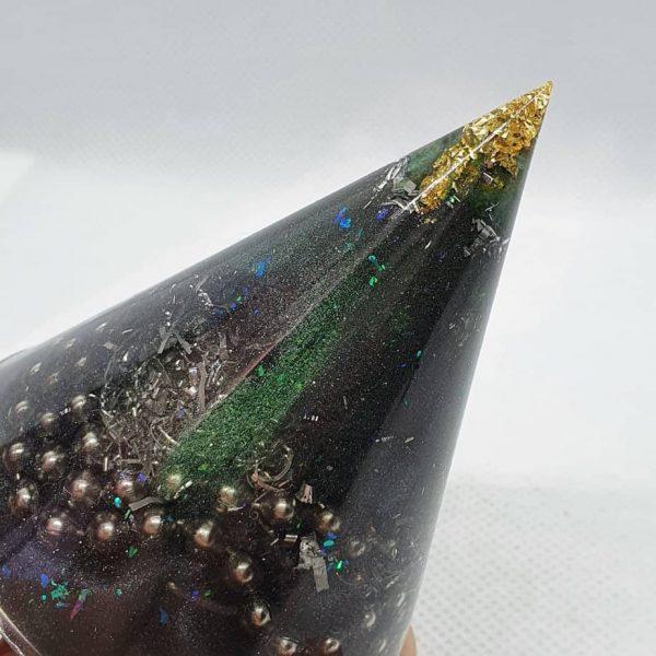 Spacial Reality Orgone Energy Orgonite Cone 6cm 2