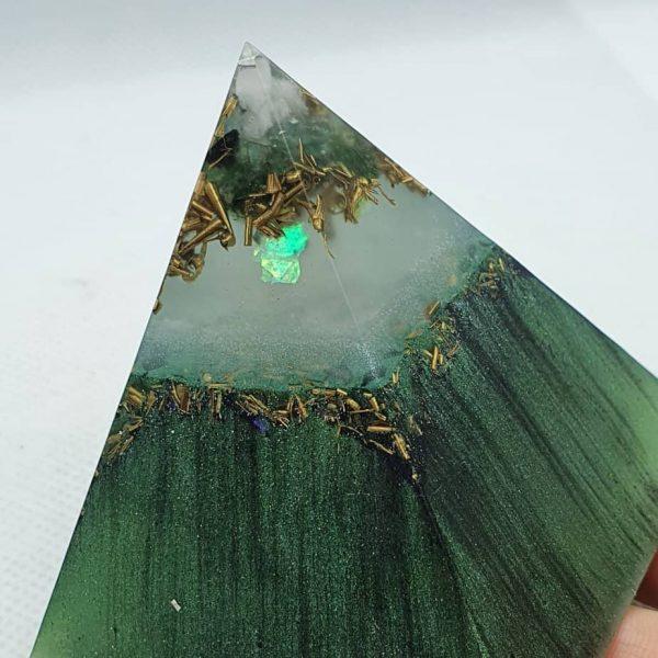 Godafoss Icelandic Hues Orgone Orgonite Pyramid 6cm 2