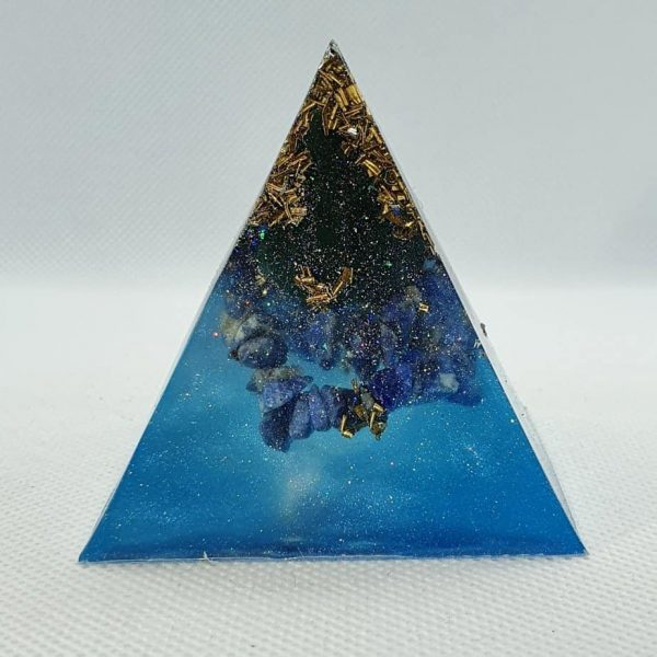 Deep Sea Change Orgone Orgonite Pyramid 6cm 1