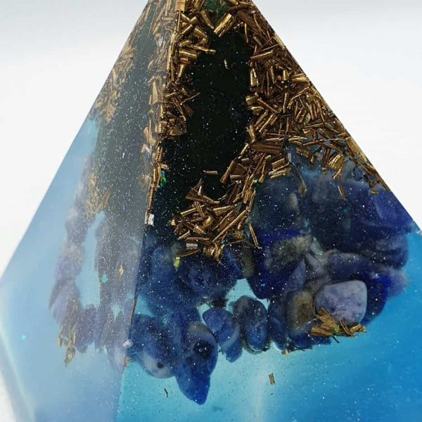 Deep Sea Change Orgone Orgonite Pyramid 6cm 2