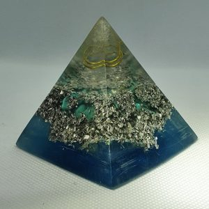 All Seeing Eye Turquoise Orgone Orgonite Pyramid 6cm