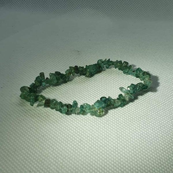 Emerald Green Calcite Chip Bracelet