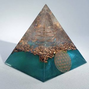 The Lion Sleeps No More Orgone Orgonite Pyramid 6cm