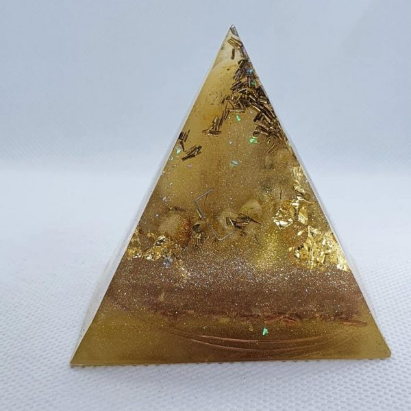 Feeling Alive and Free Orgone Orgonite Pyramid 6cm 2
