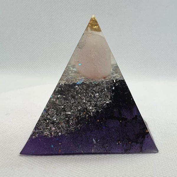 Eye of Clarity Orgone Orgonite Pyramid 6cm 1
