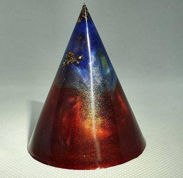 Phoenix Rising Orgone Energy Orgonite Cone 6cm