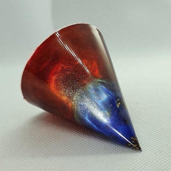 Phoenix Rising Orgone Energy Orgonite Cone 6cm 1