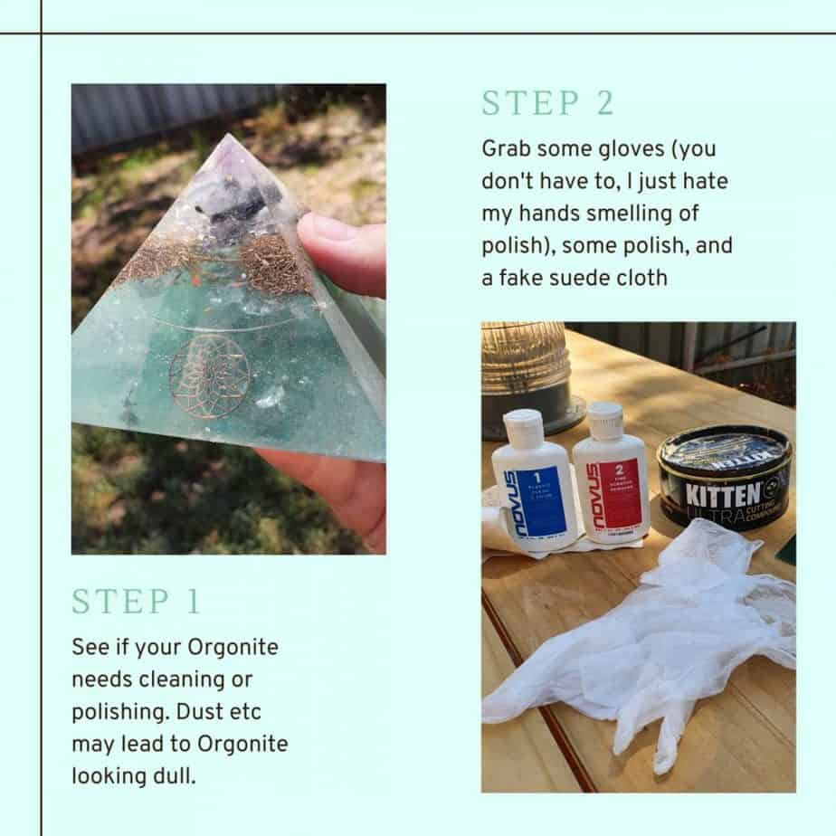 How to Clean and Polish your Orgonite