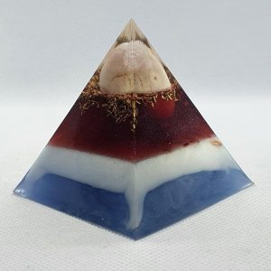 The Ooh La La Orgone Orgonite Pyramid 6cm -Pink Agate, Rose Quartz, Brass, Titanium Powders for clarity!